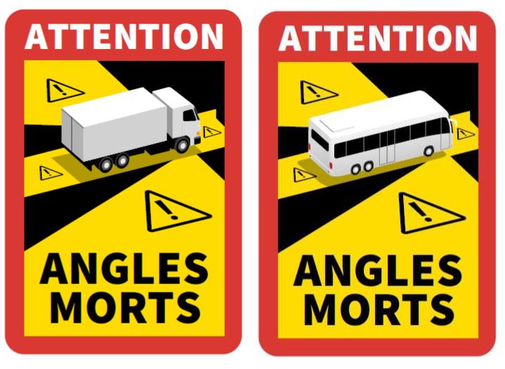 """Označenie """"mŕtvych uhlov"""" na vozidle vo Francúzsku"""