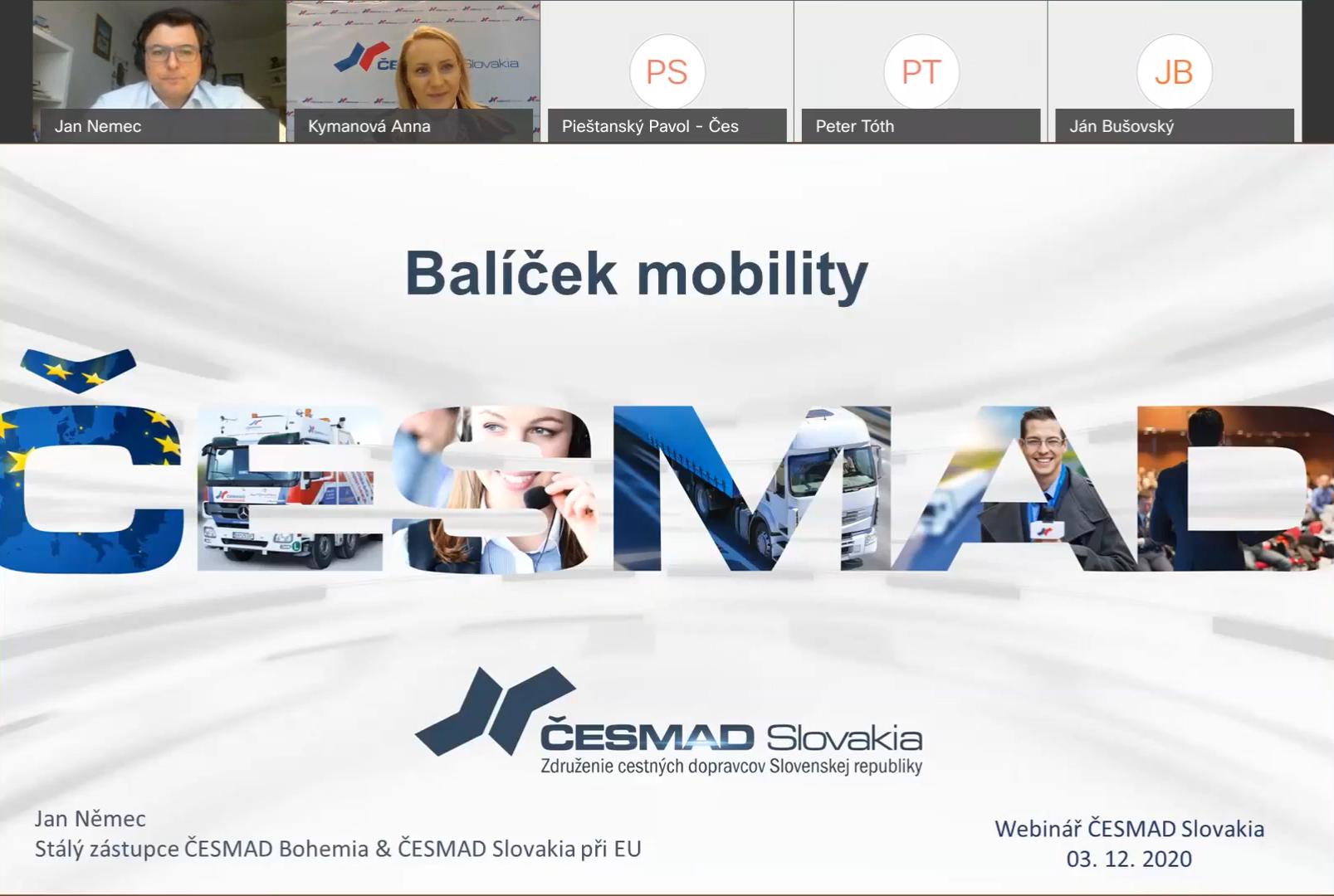 Webinár - Balíček mobility